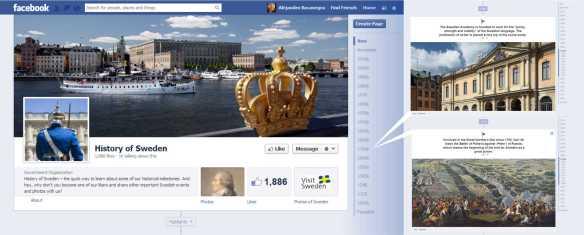 Facebook Timeline Sweden - Babyshark's Minority Report - Alejandro Bocanegra